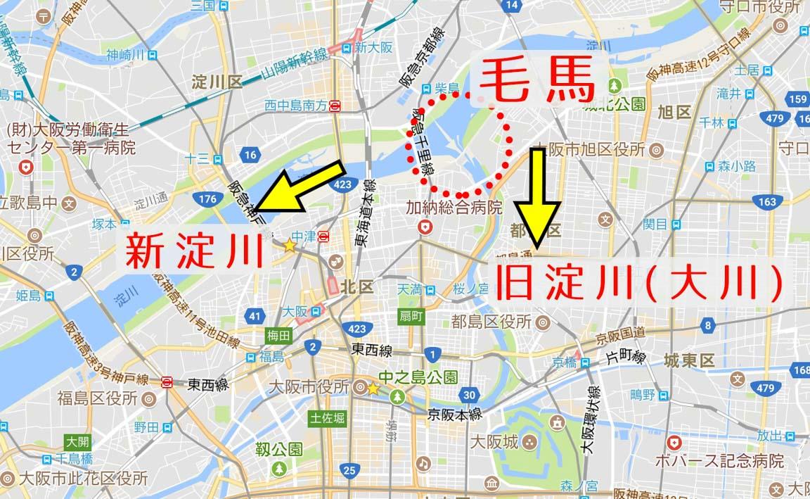 淀川 毛馬閘門-毛馬マップ2