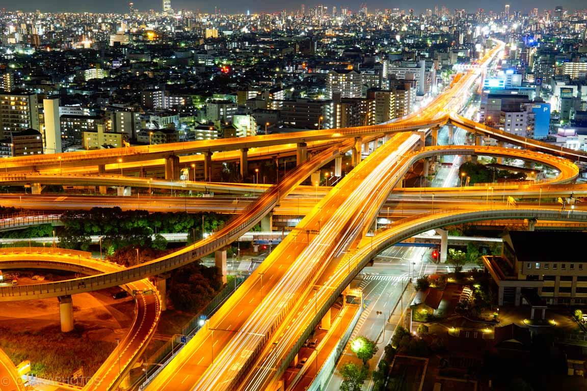 東大阪市役所ジャンクション夜景-DSC02453-2