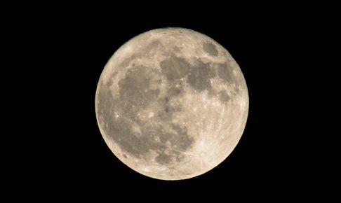 大阪城と満月-08285